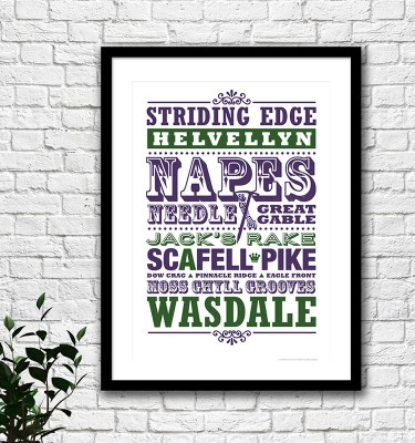 Lake District climbs print