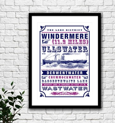 Lake District Windermere print