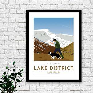 Lake District print – Blencathra
