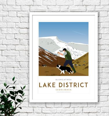 Lake District Blencathra print