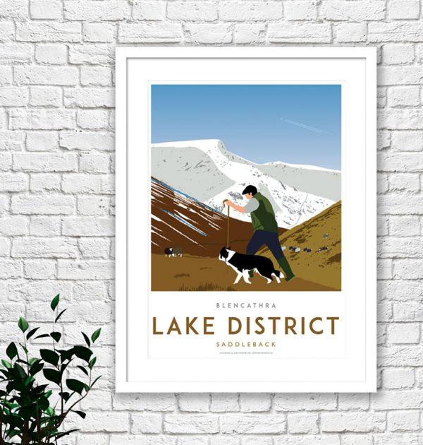 Lake District Blencathra print