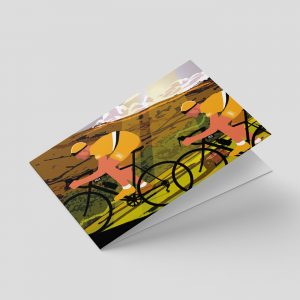 Yorkshire – Greetings card – Cyclists