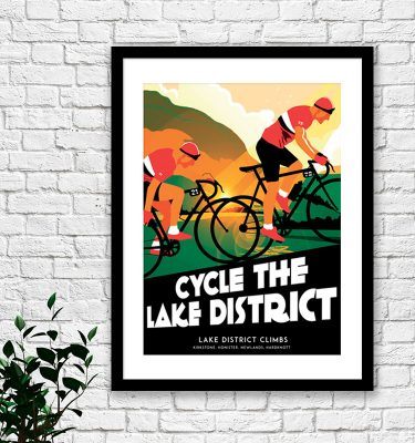 Lake District cycling print