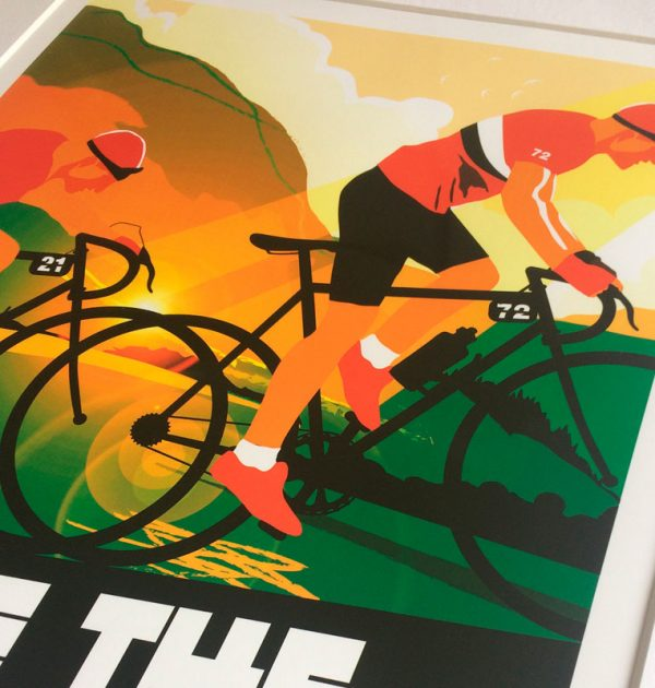 Lake District cycling print