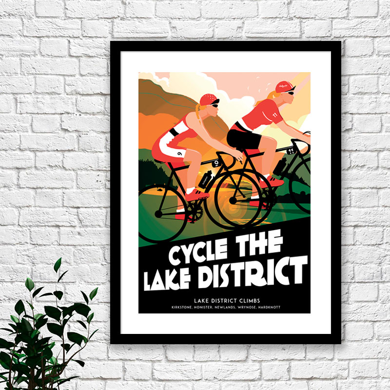 Lake District female cyclists