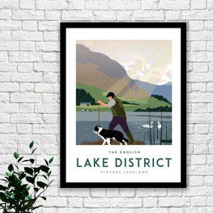 Lake District Print – Shepherd (3)