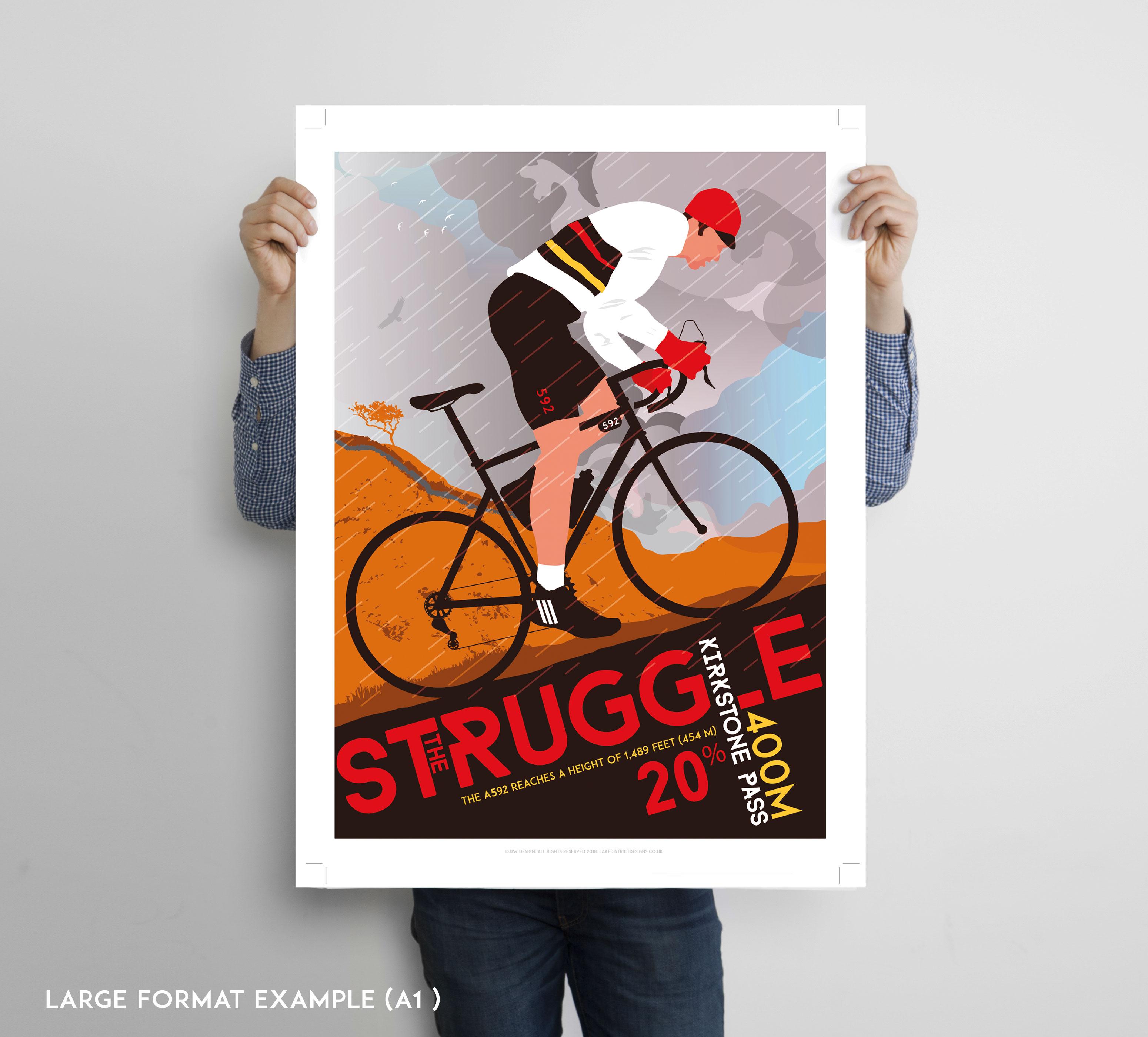 Lake District cycling poster