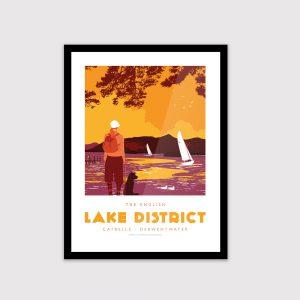 Lake District poster, Keswick, Catbells (No.2)