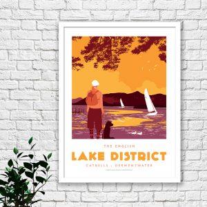 Lake District Print – Keswick – Catbells