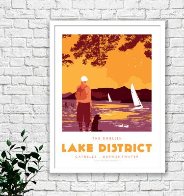 Lake District Keswick poster