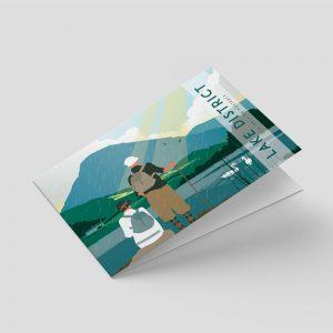 Lake District – Greetings card – Hikers