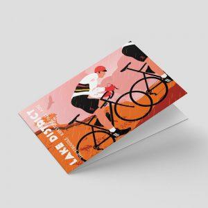 Lake District – Greetings card – Cycling