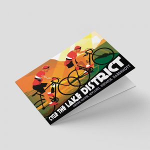 Lake District – Greetings card – Cyclists