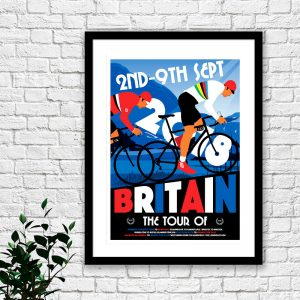 Tour of Britain cycling poster – 2018