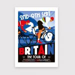 Cycling poster. Tour Britain