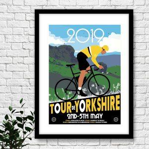 Tour De Yorkshire cycling poster – 2019