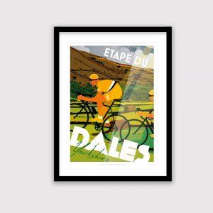 Yorkshire cycling poster, Etape Du Dales