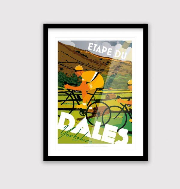 Etape du Dales cycling poster