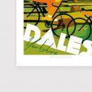 Cycling print yorkshire