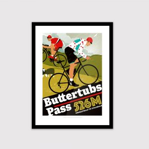 Yorkshire cycling poster, Buttertubs Pass