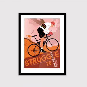 Lake District cycling poster, The Struggle (Autumn)