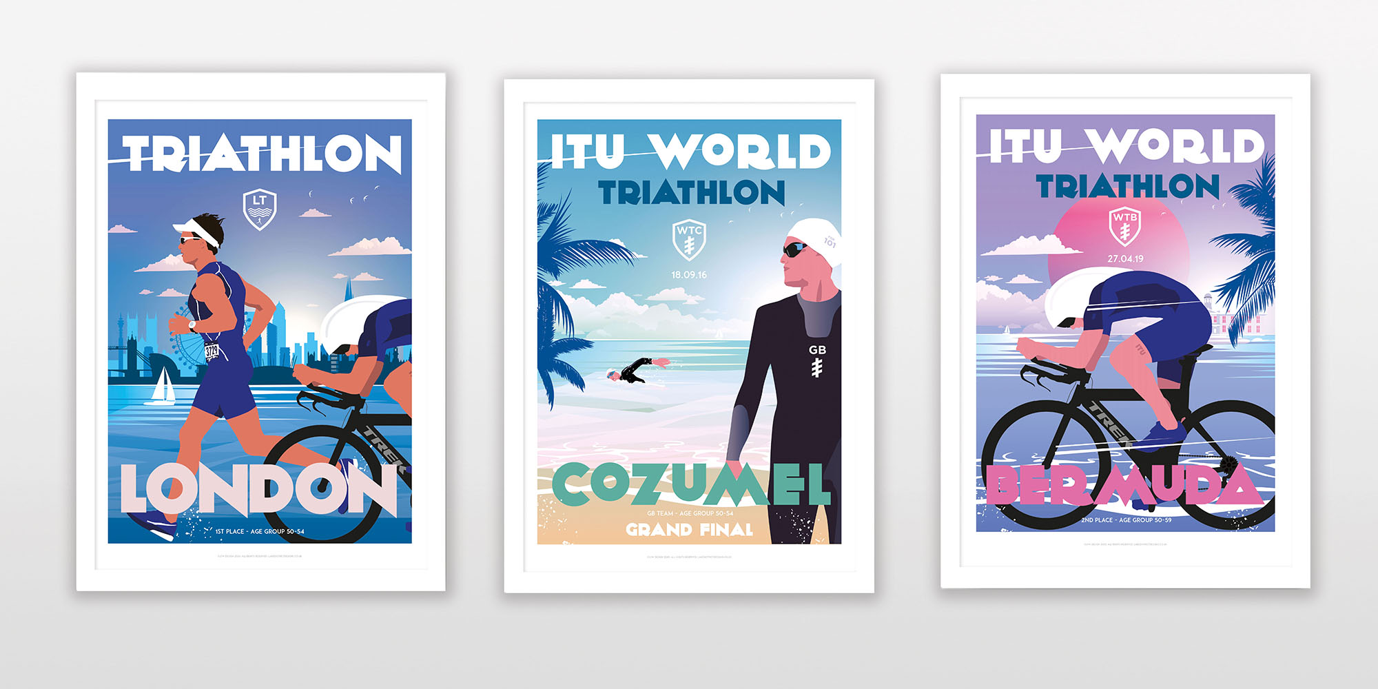Triathon posters