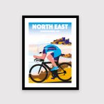 North East Cycling poster