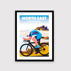 North East, Northumberland cycling poster