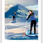 Paddle boarding print