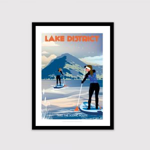 Paddle boarder, Lake District, Paddle boarders, Wetsuit, Female