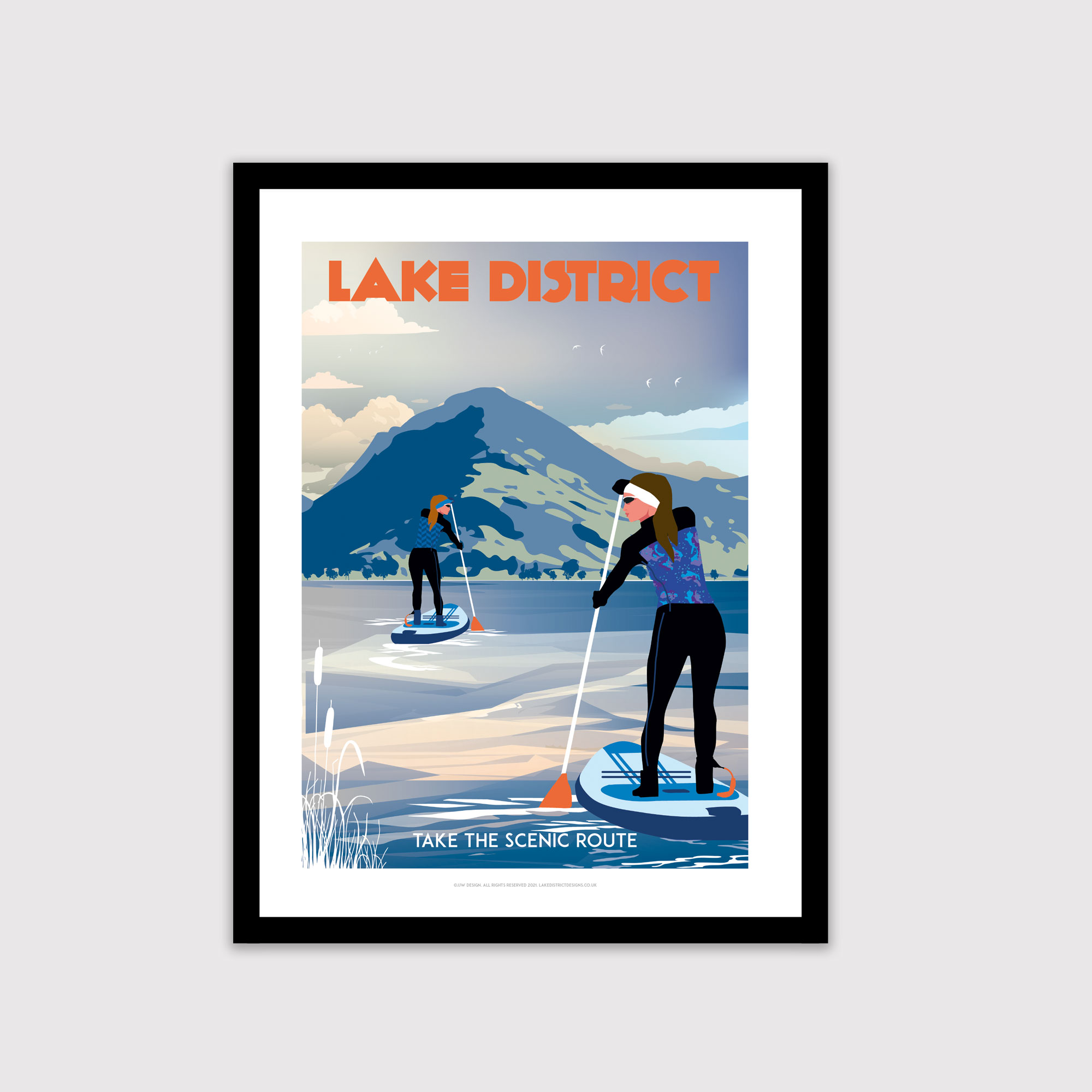 Paddle boarding poster