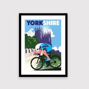York,  Yorkshire cycling poster